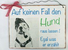 Aufkleber & Schilder - Türschild Hund Türschilder für Hundebesitzer - ein Designerstück von Un-Art-Tick bei DaWanda