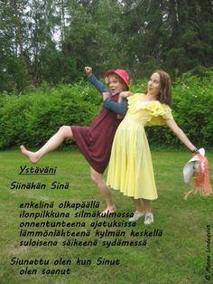 runo ystävälle - Google-haku Carpe Diem Quotes, Happy Friendship Day, Prom Dresses, Formal Dresses, Cool Words, Quotations, Aurora Sleeping Beauty, Valentines, Love
