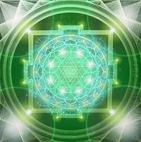 Green Sri Yantra