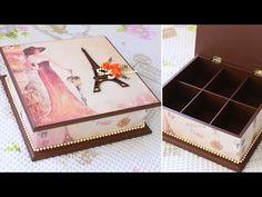 Artesanato Decoração de Caixa de MDF Com Contact DIY Como Fazer - YouTube