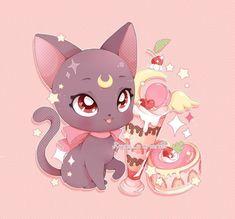 Fotos de Sailor Moon • Сейлор Мун Sailor Moon Cat, Sailor Moom, Sailor Moon Crystal, Cute Cat Illustration, Moon Drawing, Sailor Moon Character, Conan, Cute Animal Drawings, Sailor Scouts