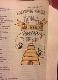 Bible journaling— this is so cute! If I ever get a bible like this I might do this! Art Journaling, Bible Study Journal, Scripture Study, Bible Art, Journal Quotes, Journal Ideas, Bible Drawing, Bible Doodling, Drawing Quotes