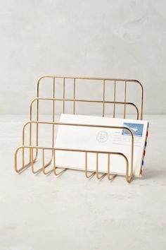 25 Decor Pieces Under $50 to Glam Up Any Room: ANTHROPOLOGIE SAVOY LETTER SORTER. No more losing track of the mail! Stay organized in style with this letter holder. ($18; Anthropologie)