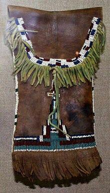 Comanche beaded ration bag Circa 1880. Collection of the Oklahoma History Center