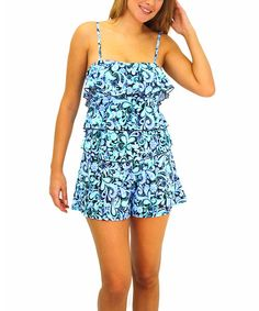 Take a look at the Blue Petal Pusher Fit 4 Ur Hips Swim Romper - Women on #zulily today!