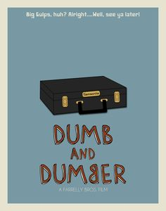 Dumb and Dumber Inspired Minimalist Movie Poster