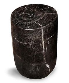 marble fossilized wood stool