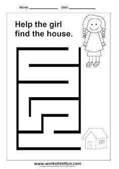 1000  images about Preschool Mazes on Pinterest | Activity books ...