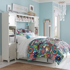 $2860 for entire thing we could always have her leave the bed in this position??  Hampton Storage Bed + Bookcase Tower Set | PBteen