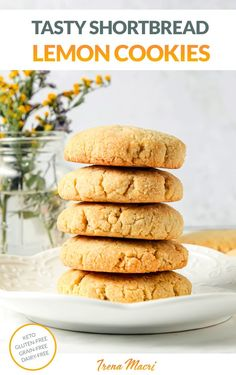 Bring a little joy and sunshine to your tea or coffee time with these delicious and healthy lemon cookies. Inspired by the traditional shortbread cookies, this recipe is a healthified version using grain-free, paleo-friendly and keto ingredients. If you're looking for healthy cookie recipes to try, this is the one! Low-Carb, keto, gluten-free. Paleo Cookies, Healthy Cookie Recipes, Best Gluten Free Recipes, Gluten Free Cookies, Keto Recipes, Healthy Food, Lemon Shortbread Cookies, English Breakfast Tea, Almond Recipes
