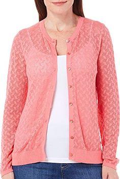 August Silk Womens Pointelle Open Knit Cardigan X-Large C... https://www.amazon.com/dp/B01ERF2UB0/ref=cm_sw_r_pi_dp_WEOCxb3DV6K9W #augustsilk #plussize #plusstyle #cardigan #wardrobeessentials