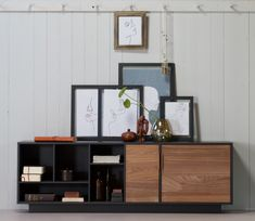 WOOOD Exclusive James dressoir geschuurd grenen - Basiclabel Design Lab, Vintage Vitrine, Deco Addict, Living Room Interior, Credenza, Cabinet, Storage, Furniture, Home Decor