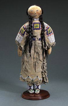 Dolls, Cradles, Toys, Plateau, Beaded, Papoose, Sioux, Apache, Sinew Sewn