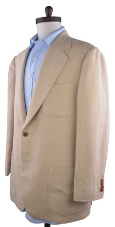 Luxire casual linen jacket constructed in Natural Ecru Hopsack. http://custom.luxire.com/products/linen_natural_ecru_heavy_vintage