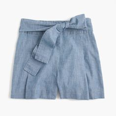 A flattering feminine short, thanks to the pretty tie at the waist and slightly higher rise. Plus, pockets! Sits above hip. 3 1/2 inseam. Cotton. Machine wash. Import. Select stores.