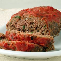 Italian-Style Meat Loaf Recipe  This is super tasty!  Used 2 slices of fresh bread, mozzarella, whole eggs and garlic sauce instead...is easy, moist and delish!