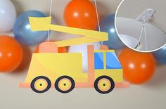 1-2-3 Let's Dig! Kids loves trucks - here's a fun construction party theme that's easy to create with Command™ Party Products. #GetYourPartyStarted