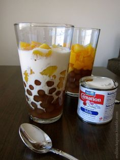 Peaches and Cream with Pearls-I do this w/ coconut or almond milk instead