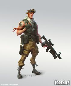 ArtStation - Fortnite - Commando Concepts, Ben Shafer