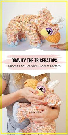 Crochet Dinosaur Patterns, Crochet Patterns Amigurumi, Crochet Dolls, Knitting Patterns, Hat Patterns, Knitted Dolls, Canvas Patterns, Crochet Simple, Cute Crochet