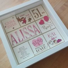 White Box Frame, Baby Party, Stamping Up, Box Frames, Diy Cards, Home Deco, Birthday Cards, Paper Crafts, Scrapbook