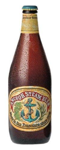 Cerveja Anchor Steam Beer, estilo Steam Beer, produzida por Anchor Brewing Company, Estados Unidos. 4.9% ABV de álcool.