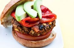 sweet potato black bean burger...need to try this...