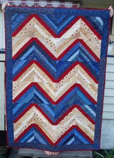 Patriotic chevron quilt