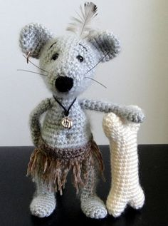 Mouse from Jungle :) Soft toy decor, Crochet Handmade, OOAK, Stuffed Animals, Amigurumi, Made to order