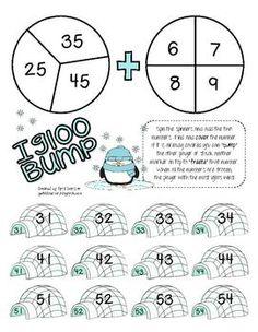 winter math games for first grade