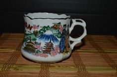 Japan Souvenir Coffee/Tea Mug Cup Made in Japan With Gold Trim  #Unbranded