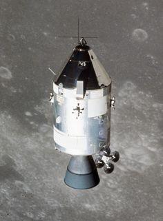Apollo 15 command module in lunar orbit, July 30, 1971.