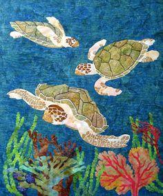 sea turtle quilt squares | Carol Morrissey patterns