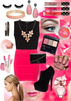 """""""Pink!"""" by daliabh ❤ liked on Polyvore"""