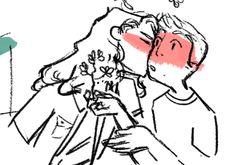 connor and evan, sittin' in a tree, bonus: Dear Evan Hansen Fanart, Dear Evan Hansen Musical, Evan And Connor, Dear Even Hansen, Connor Murphy, Acorn Kids, Michael Mell, Theatre Nerds, Theater