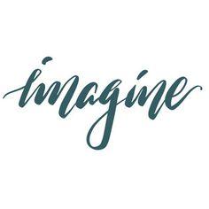 Silhouette Design Store - View Design #216232: imagine Brush Pen Calligraphy, Calligraphy Words, Silhouette Cameo Projects, Silhouette Design, Hand Lettering Art, Doodle Lettering, Stencil Templates, Templates Free, Stencils