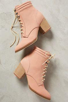 pale blush suede booties