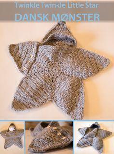Moster Johanne: NU PÅ DANSK: twinkle twinkle little star crochet Baby Cocoon Pattern, Crochet Baby Cocoon, Crochet Diy, Love Crochet, Crochet For Kids, Crochet Blanket Patterns, Baby Blanket Crochet, Baby Patterns, Quilt Baby