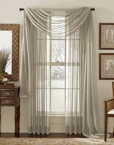 2 piece solid taupe elegant sheer curtains fully stitched panels window treatment drape 55 x 84 check out this great product