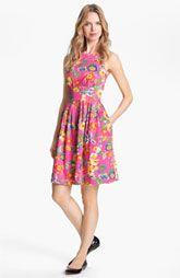 kate spade new york 'sonja' stretch cotton fit & flare dress