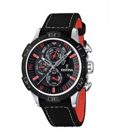 b247b8a4224 FESTINA La Vuelta Chrono Black Leather Strap F16566 7