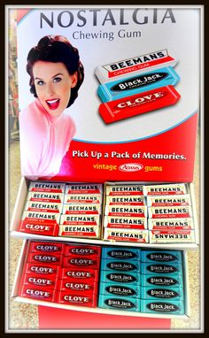 Vintage candy, gum