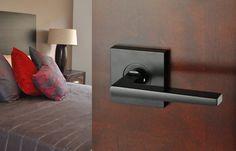 Nidus Marino Square Black Passage Set Black Door Hardware, Black Doors, The Block Australia, Bronze Door Knobs, Contemporary Doors, Matte Black, Interior Styling, Door Handles, Capri