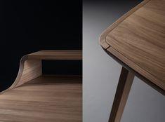 Picard desk on Behance Wood Furniture, Furniture Design, Studio Desk, Industrial Design, Home Furnishings, Woodworking, Behance, Inspiration, Home Decor