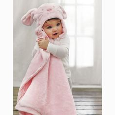 Soft Aviator Bunny Hat and Blanket Set, Bunny