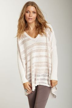 flowy, big sweaters.