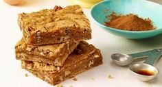 Cinnamon Caramel Swirl Bars: Cinnamon is the star ingredient in this indulgent recipe certain to please one and all. This favorite spice combines with gooey caramel for a truly decadent dessert.