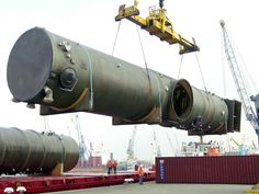 FRP scrubber diameter 4000 mm, transport phase in the sea port.