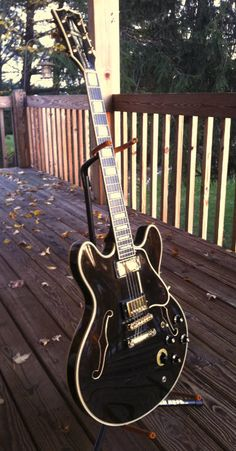 """1978 Gibson ES-355 TDSV.  Here's something a little bit special from Steelyblue, saying;  """"I bought this 2 years ago. At some point in its past, it had the Maestro vibrato removed and replaced with a stop tail. I actually prefer it that way. Love this guitar."""""""