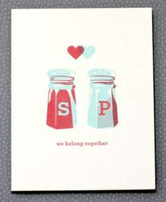 A great Valentines Day card for the culinary loversbirds via FNM